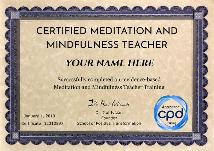 Meditation Mindfulness Teacher Training Meditation Certification